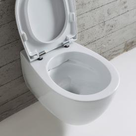 Globo 4ALL SENZABRIDA® wall-mounted washdown toilet, rimless white