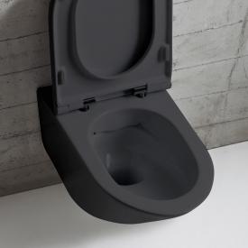 Globo FORTY3 SENZABRIDA® wall-mounted, washdown toilet, rimless matt black