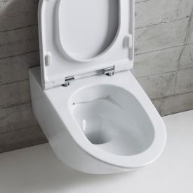 Globo FORTY3 SENZABRIDA® wall-mounted washdown toilet, rimless white