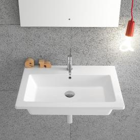 Globo FORTY3 washbasin white, with 1 tap hole