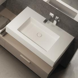 Globo INCANTHO countertop washbasin white, without tap hole