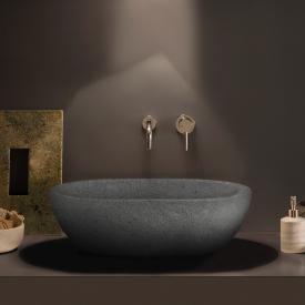 Globo Le PIETRE countertop washbasin peperino grey