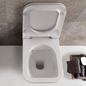 Globo STONE SENZABRIDA® wall-mounted washdown toilet, rimless white, with CERASLIDE® and BATAFORM®