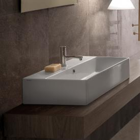 Globo T-EDGE washbasin white, with 1 tap hole