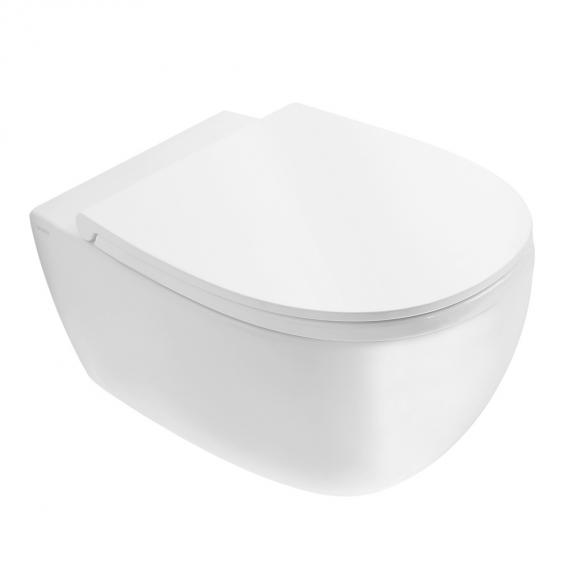 Globo 4ALL SENZABRIDA® wall-mounted washdown toilet, rimless white