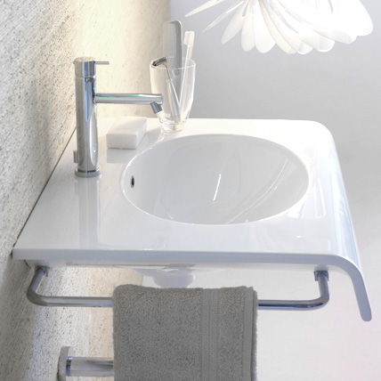 Globo BOWL+ side towel rail