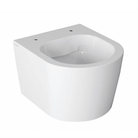 Globo FORTY3 SENZABRIDA® wall-mounted washdown toilet, rimless, short version white