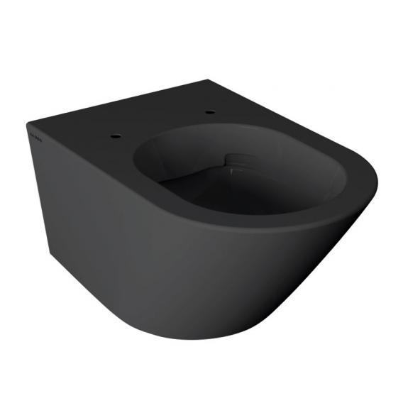 Globo FORTY3 SENZABRIDA® wall-mounted, washdown toilet, rimless matt black