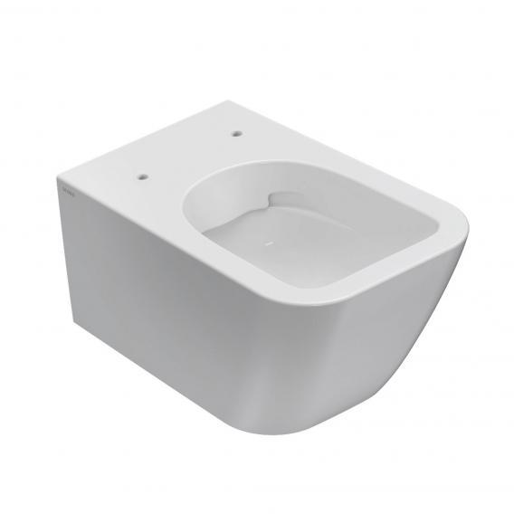 Globo STONE SENZABRIDA® wall-mounted washdown toilet, rimless white, with CERASLIDE® and BATAFORM®
