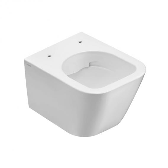 Globo Stone wall-mounted washdown toilet, rimless, short version white
