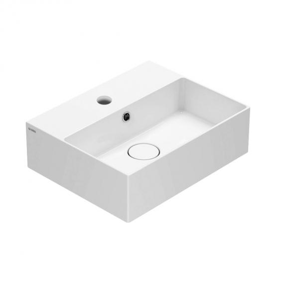Globo T-EDGE hand washbasin white, with 1 tap hole
