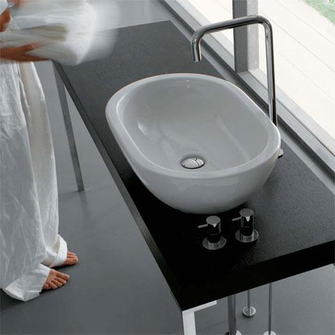 Globo FORTY3 countertop washbasin white