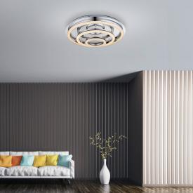 Globo Lighting Spikur LED ceiling light with dimmer and CCT