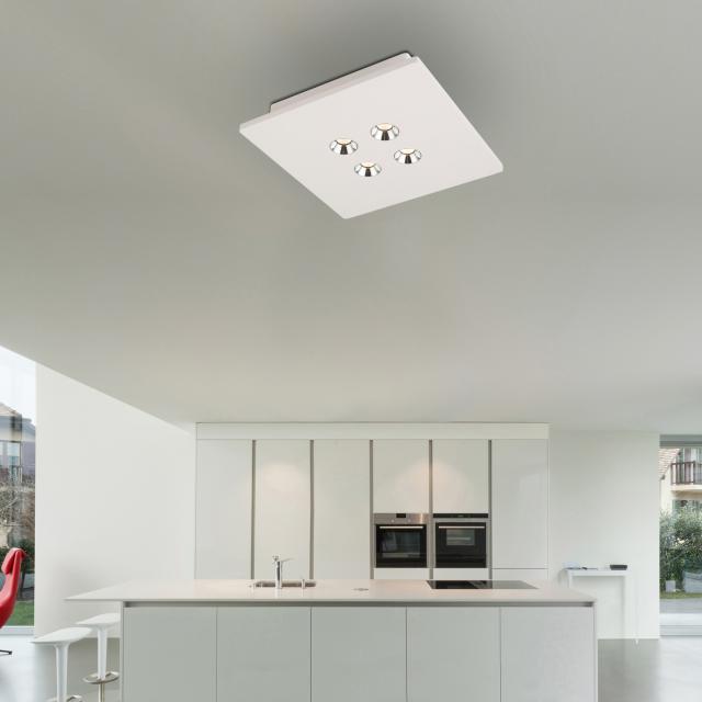 Globo Lighting Christine LED spotlight/ceiling light, 4 heads, square