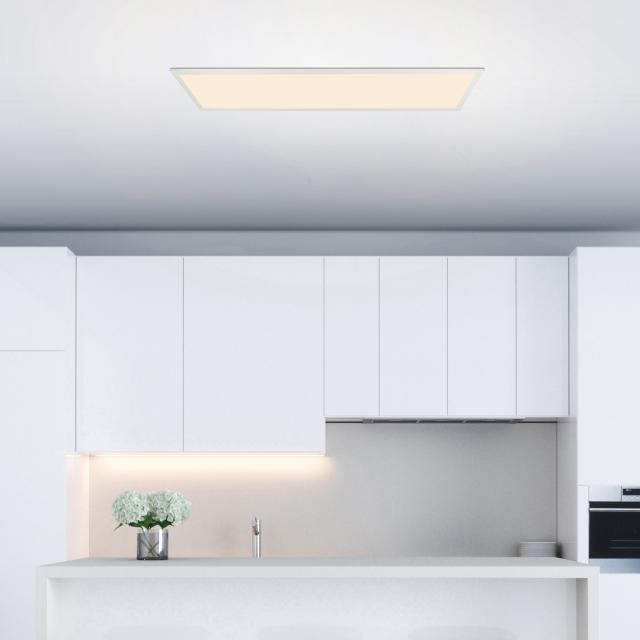 Globo Lighting Rosi LED ceiling light with dimmer and CCT, rectangular