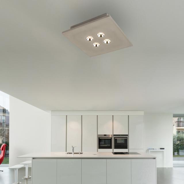 Globo Lighting Timo LED spotlight/ceiling light, 4 heads, square
