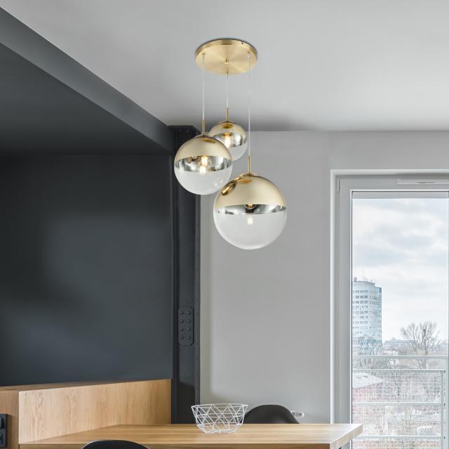 Globo Lighting Varus pendant light, 3 heads