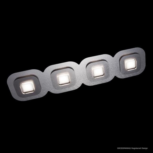 GROSSMANN AP LED ceiling light, 4 heads, elongated