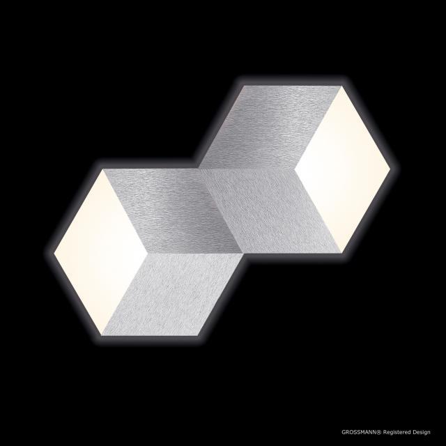 GROSSMANN Geo LED ceiling light/wall light, 2 heads