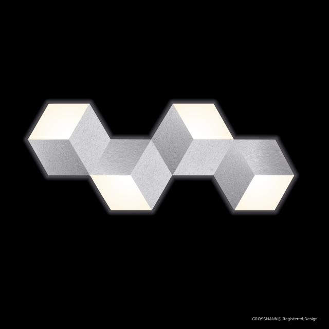 GROSSMANN Geo LED ceiling light/wall light, 4 heads