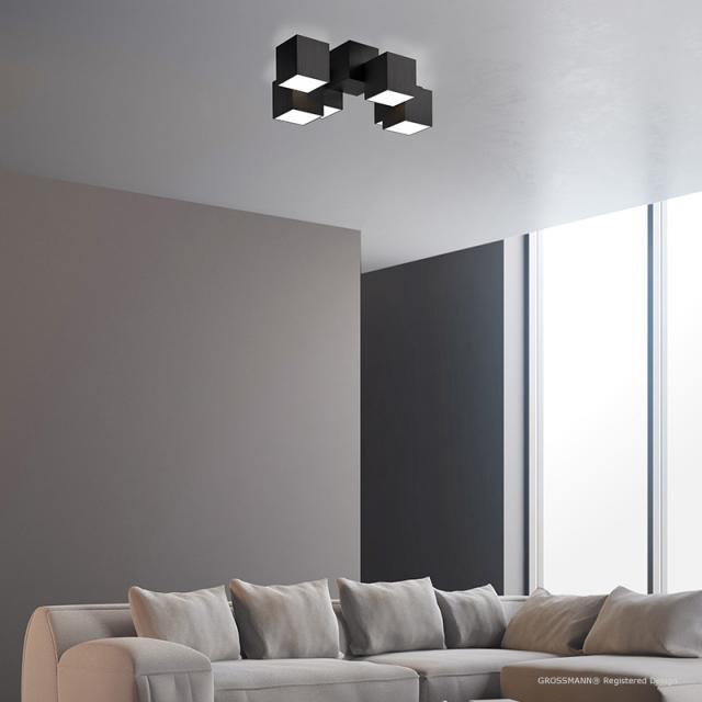 GROSSMANN Rocks LED ceiling light, 6 heads