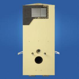 Grumbach corner toilet block H: 98 cm, with PUR cladding panel