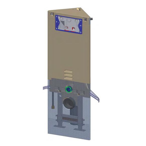 Grumbach corner toilet block H: 98 cm, for Sigma 01/10/20/30/50 flush plates