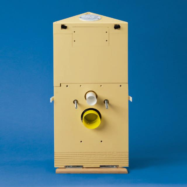 Grumbach corner toilet block H: 83 cm for Classic 150 flush plate, top actuation