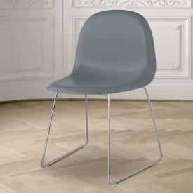 GUBI 3D chair with runners, plastic