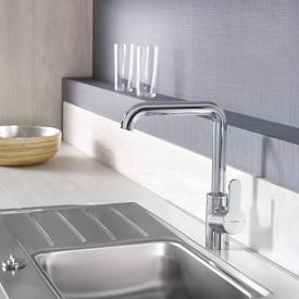 Hansa Primo single lever, monobloc kitchen mixer