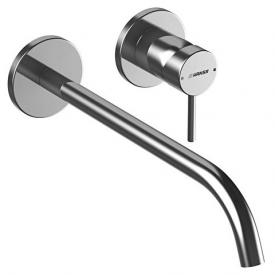 Hansa Public wall-mounted, single lever basin mixer, spout Ø 19 mm projection: 300 mm