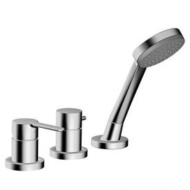 Hansa Ronda three hole, deck-mounted bath mixer