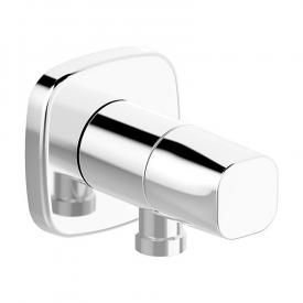 Hansa wall elbow with integrated shut-off, soft edge