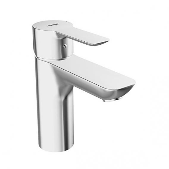 Hansa Ligna monobloc, single lever basin mixer with pop-up waste set