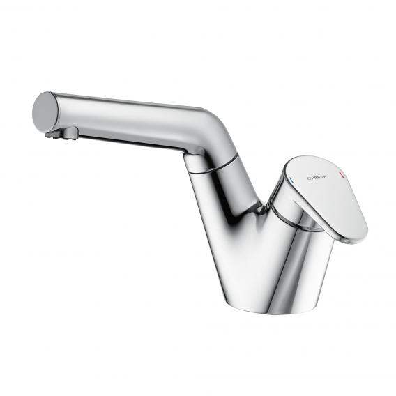 Hansa Signatur monobloc, single lever basin mixer with pull-out hand spray