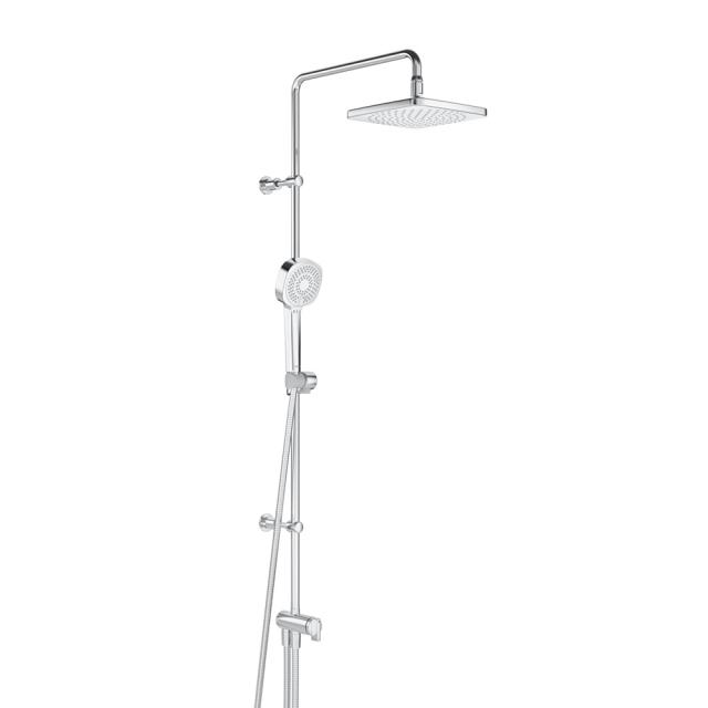 Hansa Basicjet shower system with water bearing shower rail, with flexible connections