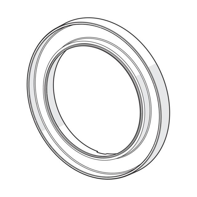 Hansa Bluebox escutcheon extension 15 mm, round