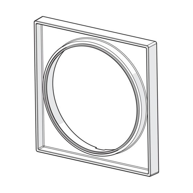 Hansa Bluebox escutcheon extension 15 mm, square