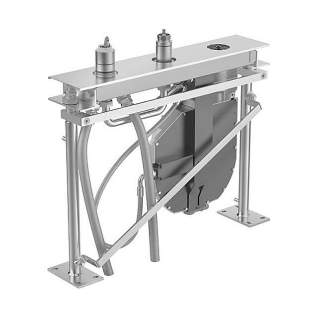 Hansa Compact 3 hole tile rim installation unit for remotely located bath spout