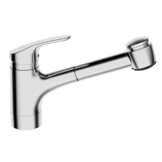 Hansa Mix monobloc, single lever kitchen mixer with pull-out spray