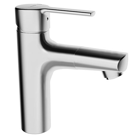 Hansa Ronda monobloc, single lever basin mixer with hose shower