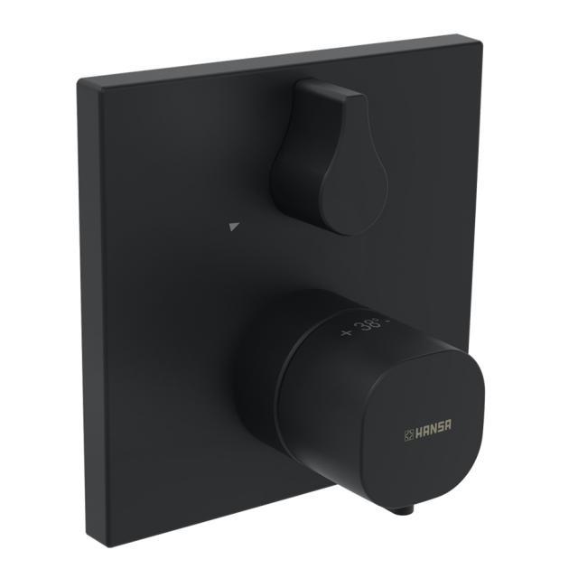Hansa concealed thermostatic shower mixer matt black