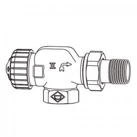 "HEIMEIER V-exact II thermostatic valve body axial DN15 (1/2"")"