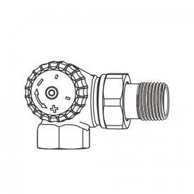 "HEIMEIER V-exact II thermostatic valve body double angle right/left DN10 (3/8"")"