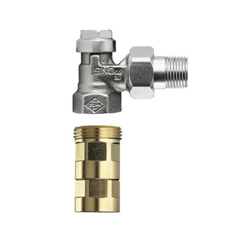 HEIMEIER Regulux radiator return lockshield with Viega press connection 15 mm