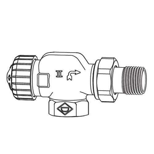"HEIMEIER V-exact II thermostatic valve body axial DN15 (1/2"")"