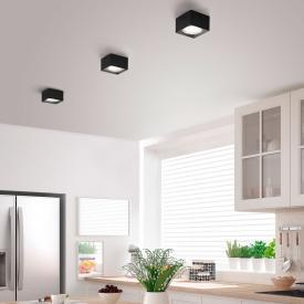 helestra KARI LED spotlight/ceiling light, rectangular