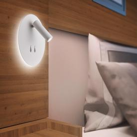 Helestra ORSO LED wall light with reading light