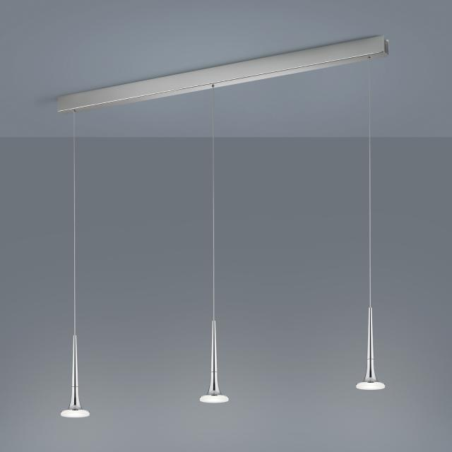 helestra FLUTE LED pendant light, 3 heads, elongated