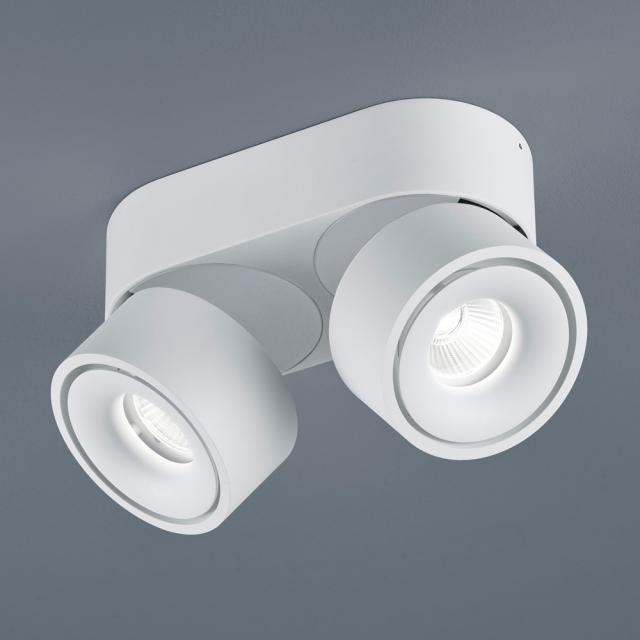 helestra NAKA LED ceiling light / spotlight, double